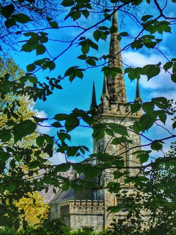 Relaxing Taking Photos Nature Tree And Sky Clouds And Sky Celbridge Old Church