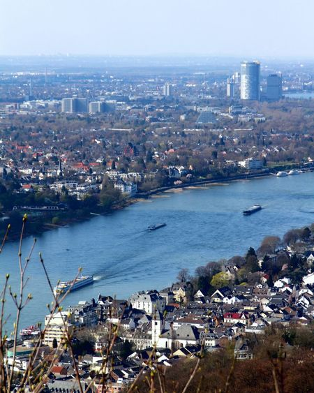 View From Above City Rhein Bonn River Cruise Ship Boat Cityscape Germany City Cityscape Urban Skyline Modern Skyscraper Sea Water Beach Aerial View Downtown District Urban Sprawl District Mast Yachting Passenger Craft Sailing Ship Boat Deck Sailor The Art Of Street Photography