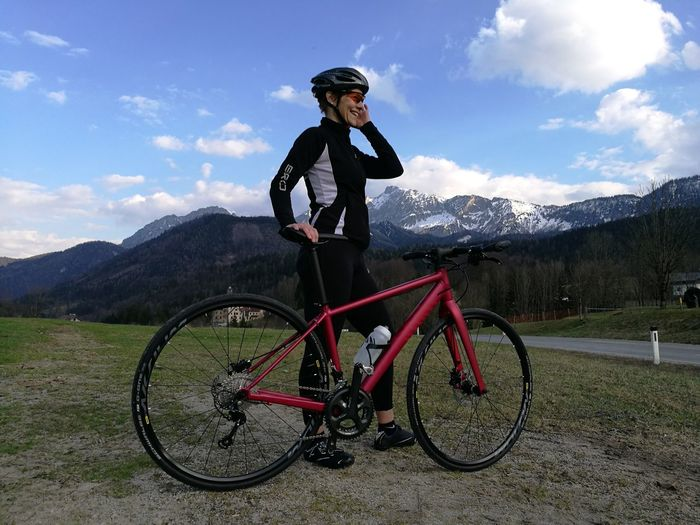 My self Bicycle Leisure Activity Sport Motion