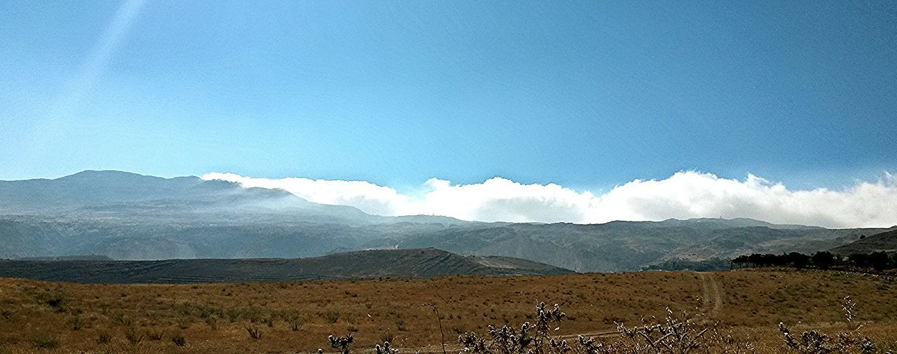 Clouds Mountains Fields Bekaa Valley