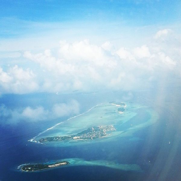 Skyline Maldives :) Bluish Malé in pic ;) Maldives Maldivesmale View This morning