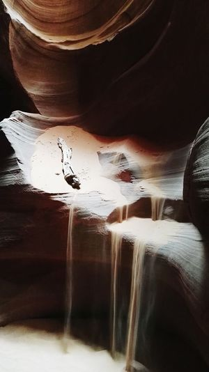 Sand in antelope canyon