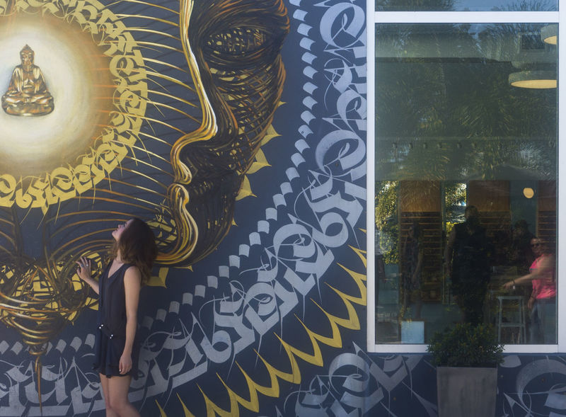 Budha Background Miami, Florida Miles Miles Miles Modern Art One Person Posing For The Camera Wall Woodlands Walk
