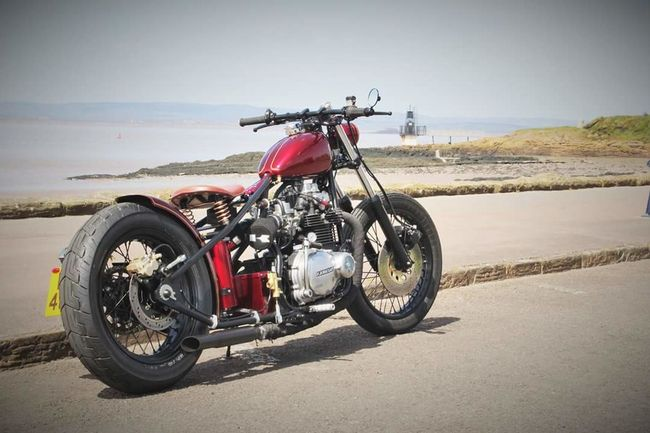 Bobber Custom Motorcycle Home Built Kawasaki KZ 400