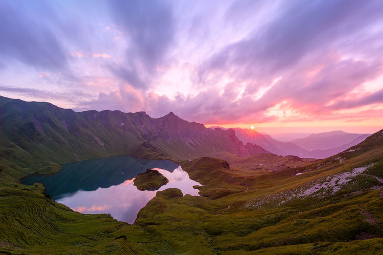 Allgäu Allgäu Alps Allgäuer Alpen Alpen Alps Bavaria Beauty In Nature Clouds Deutschland Germany Lake Landscape Mountains Nature No People Outdoors Scenic Schrecksee See Sky Summer Sun Sunset