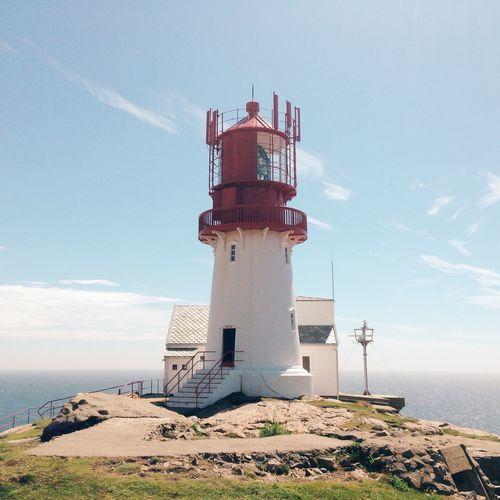 Lighthouse Nature Coast Sea Norway Traveling Travel