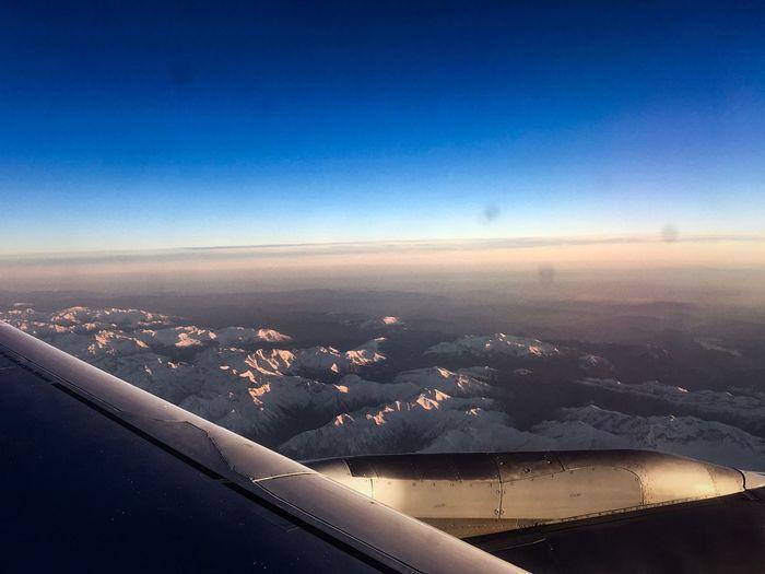 Flying Lufthansa OvertheMountains Mountainview Flightoveralps Alps Austria Winter Skiing Snow