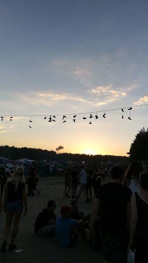 Woodstock Woodstock 2017 Przystanekwoodstock Kostrzyn Nad Odrą Sunset Sky People