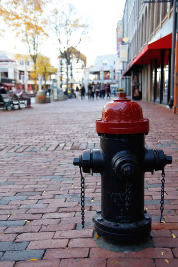 City City Street Street Building Exterior City Life Focus On Foreground Built Structure Cobblestone Architecture Fire Hydrant Outdoors Water Close-up Natural Disaster No People Sky Day Break The Mold. The Street Photographer - 2017 EyeEm Awards