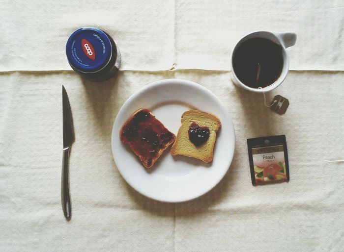 The EyeEm Breakfast Club Simple breakfast with tea,toasted bread and marmalade Italian Girl Colazione Tea Time