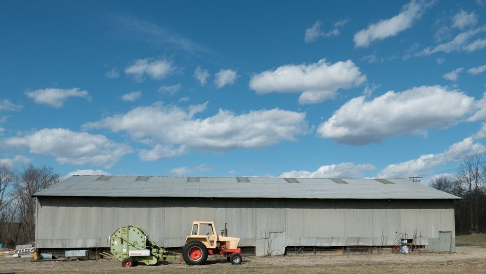 Welcome spring weather! Spring Has Arrived Spring Tractor Cloud - Sky Outdoors No People Sky Day Yellow