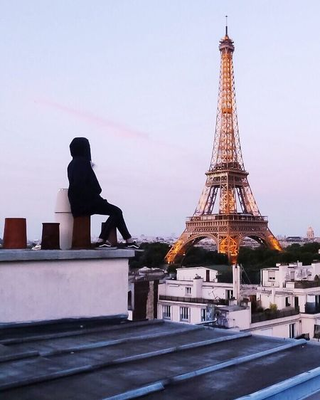 Rooftop ! Rooftop Paris France Tour Eiffel Eiffel Tower Sunset Gold