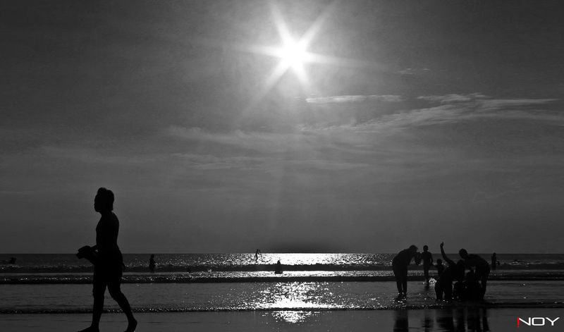 Beauty In Nature Black & White Black And White Blackandwhite Canon Horizon Over Water Inoy Landscape Outdoors Sea Seascape Sun Sunlight Water