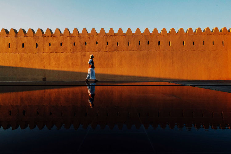 Reflection at qasr al muwaiji