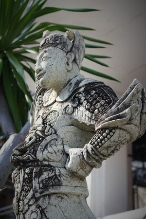 Ancient Chinese style stone sculpture in Wat Suthat Thepwanaram Bangkok, Thailand. Thailand Photos Wat Suthat Art And Craft Chinese Style Close-up Day Gargoyle History Human Representation Low Angle View No People Outdoors Sculpture Statue Stone Sculpture
