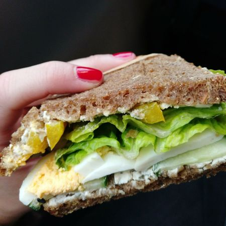 Sandwich Food Bread Food And Drink Breakfast Human Body Part Freshness Snack Human Hand People Ready-to-eat One Person Healthy Eating Indoors  Egg Yolk Fast Food Close-up Adult Toasted Bread Day Red Nails Finger Nails Red Nom Nom Nom Nomnomnom