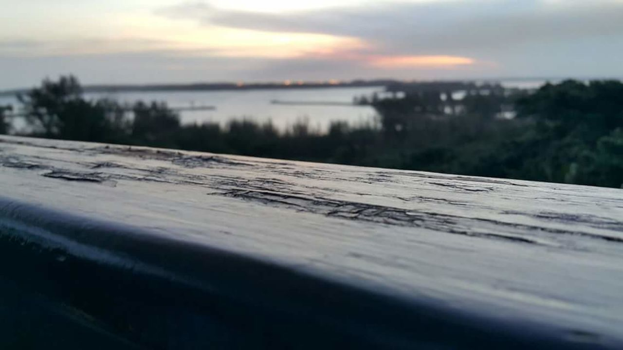 wood - material, sunset, sky, no people, nature, outdoors, water, scenics, beauty in nature, close-up, day