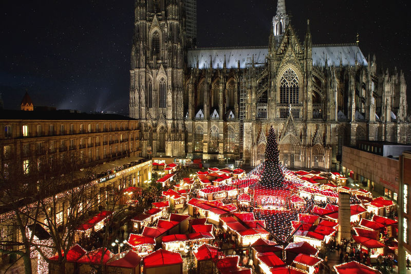 Cologne Cathedral Christmas Market, with it's great atmosphere and illumination. Cologne Germany Germany🇩🇪 Europe Christmas Christmas Decoration Christmas Lights Christmas Market Christmas Markets Night Evening Illumination Event Tradition Vacations Holiday Winter Cologne Cathedral World Heritage Santa Claus Stars Toys Gifts City Crêpes