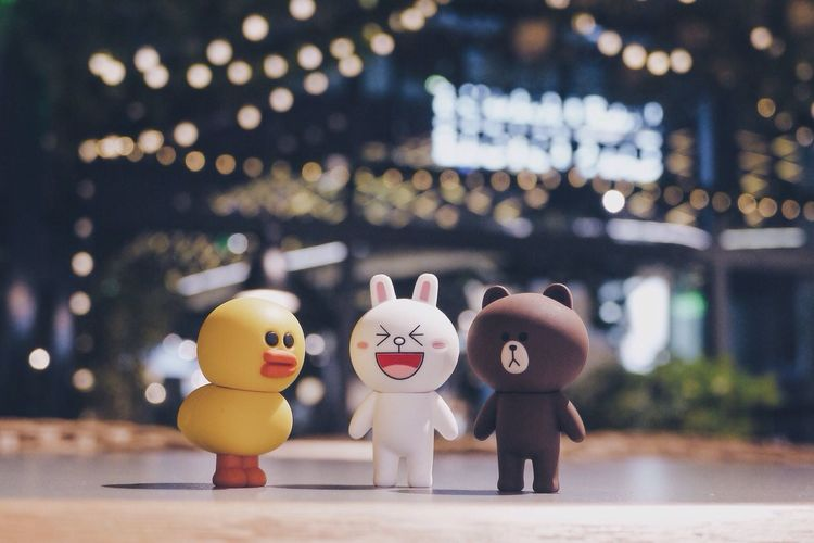 Night Night Lights Close-up Multi Colored Brown Sally Cony Line Friends Line Friends Store USB Lights