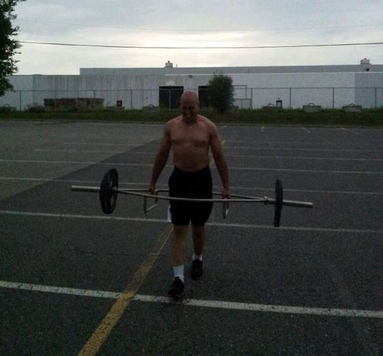 Farmer's walk, 100 feet x 5 reps with 135lbs. to end off today's workout. Motivated Fitness Gym Life That's Me