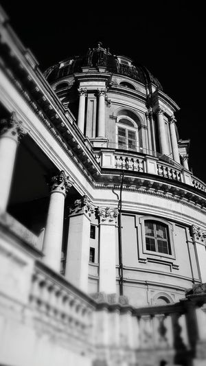 Architecture Building Exterior Built Structure History Low Angle View Dome Night No People Travel Destinations City Outdoors Architecture Historical Building Church Architecture Superga Turin Black And White Friday