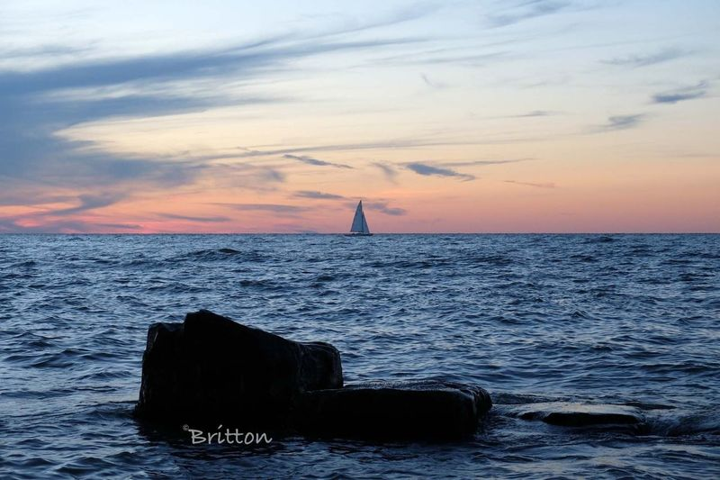 Sailboat on Lake Erie Water_collection Skyporn