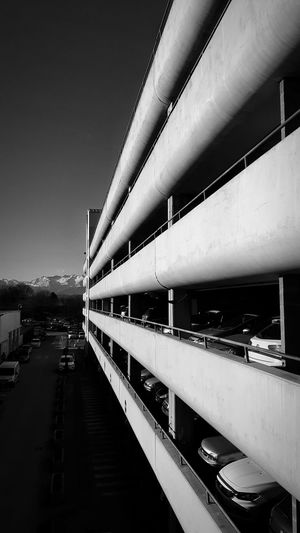 Architecture Outdoors EyeEm Gallery EyeEm Best Shots Perspective Mountain Cars Focus Black And White Extreme The Graphic City