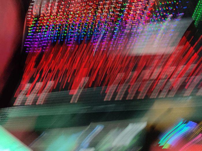 Defocused image of multi colored lights
