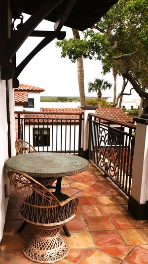 Spanish Architecture New Smyrna Beach Live Oaks Palm Trees Indian River View Balcony Spanish Tile Roof Water View