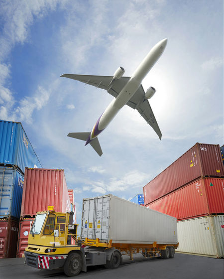 Transportation Mode Of Transportation Freight Transportation Container Sky Shipping  Industry Business Air Vehicle Airplane Cloud - Sky Cargo Container Nature Outdoors Day Architecture Land Vehicle Truck Commercial Dock Pier
