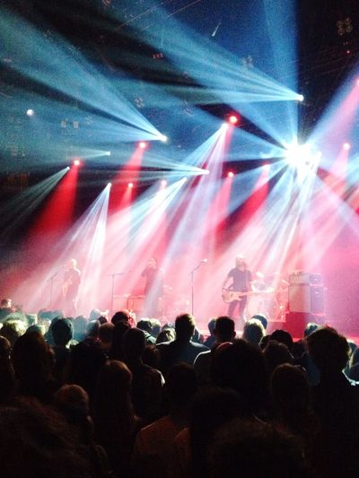 Mew performing at Roundhouse in London. Mew Music Concert Lights Danish Denmark Rock
