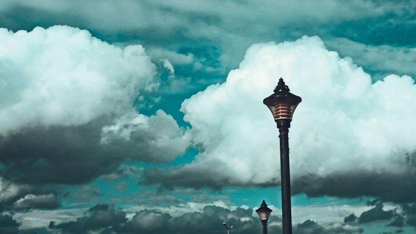 Cloud - Sky Night Outdoors No People Sky Outdoor Light Street Lights Blue Sky Freshness Clouds