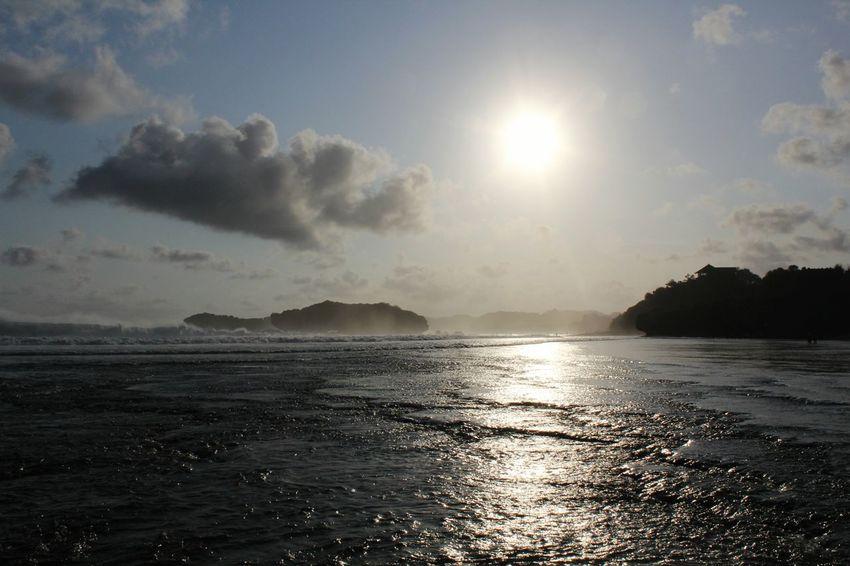 Sundak Beach, sun, wave.. Sundak INDONESIA Jogjakarta
