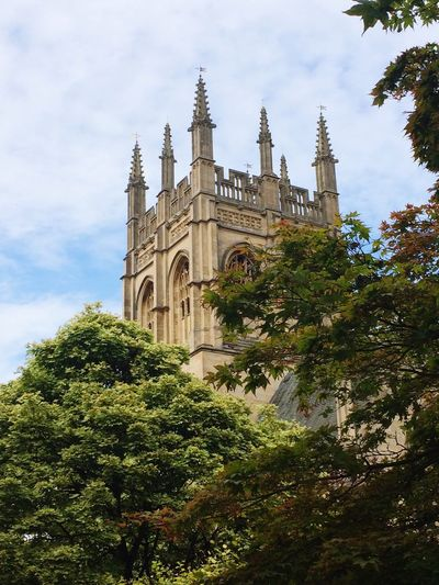 Oxford Tower Trees Nature Sandstone British Architecturelovers Architectural Detail Sandstone Architecturephotography Tower Buildings Hidden Buildingsandtrees Building Exterior Building Green Leaves Exterior