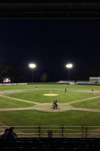 The Stage ✨⚾️🎭 Night Floodlight Sport Illuminated Team Sport Grass Playing Field Real People Green Color Leisure Activity Lighting Equipment Men Playing Sportsman Stadium Competitive Sport Large Group Of People Togetherness Lifestyles Baseball Tadaa Community IPhoneography Iphoneonly Nightphotography Night View