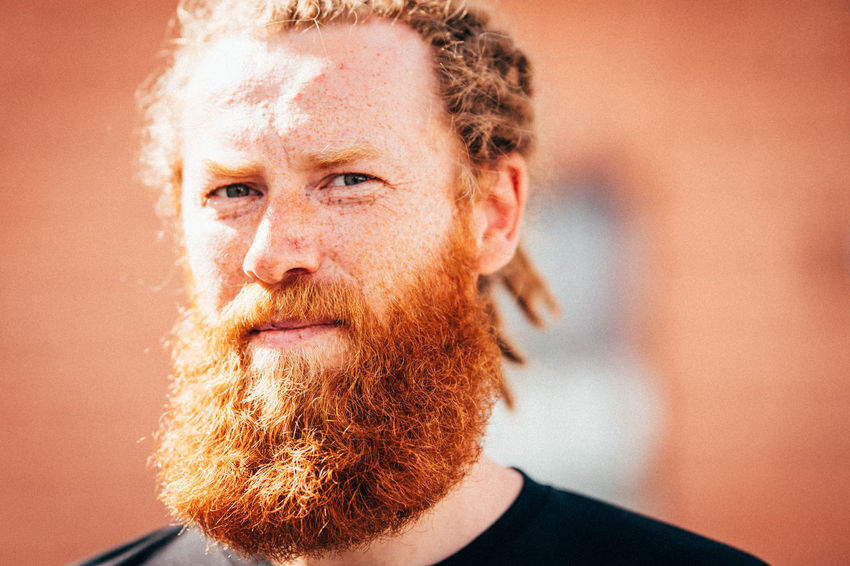 RedBeard Redhead Adult Beard Bearded Beardlife Close-up Contemplation Facial Hair Focus On Foreground Front View Hairstyle Headshot Human Face Leisure Activity Lifestyles Looking At Camera Males  Men One Person Portrait Real People Young Adult