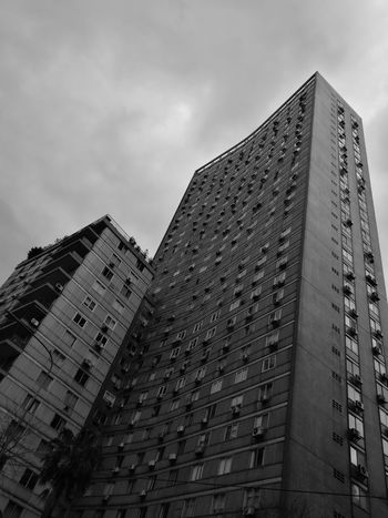 Architecture Low Angle View Built Structure Building Exterior Ciudad Autónoma De Buenos Aires Scenics Backgrounds Outdoors Urban Skyline Black And White Friday