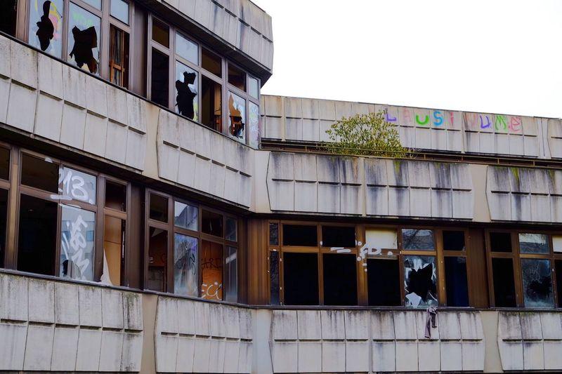 Graffiti Sports Center Abandoned Places Abandoned Architecture City Building Exterior Built Structure