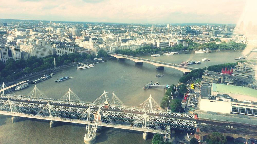 London LondonEye Waterloobridge Landscape