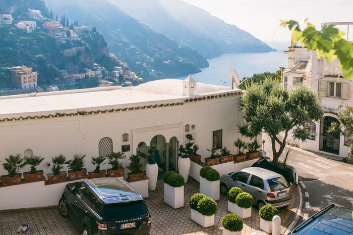Architecture Balcony Day Italy Mountain Nature Outdoors Plant Positano Positano, Italy Sea Sky Town Travel Destinations Vacation
