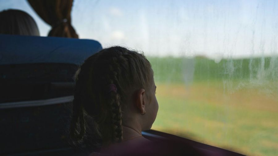 Silhouette Light And Shadow Cute Best EyeEm Shot Travel Child Looking Through Window Rear View Window Childhood Sky