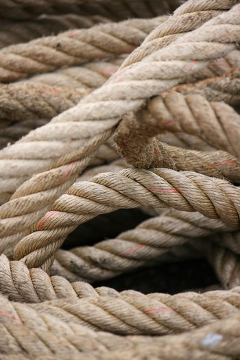 Full frame shot of tangled rope