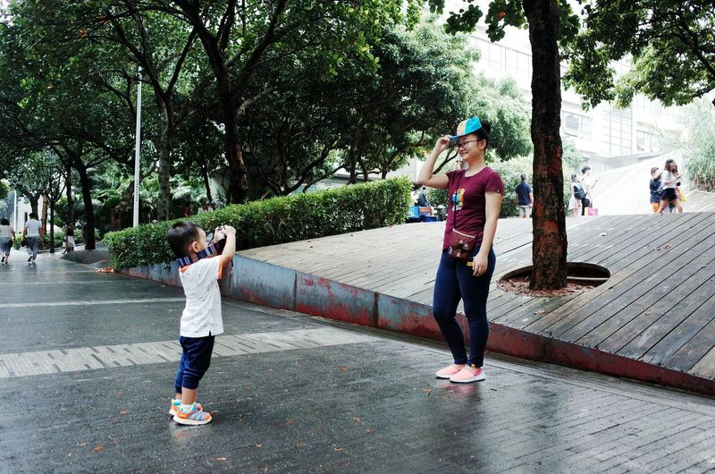 Enjoy The New Normal Happiness Childhood Smiling Togetherness Mother And Son Babyboy