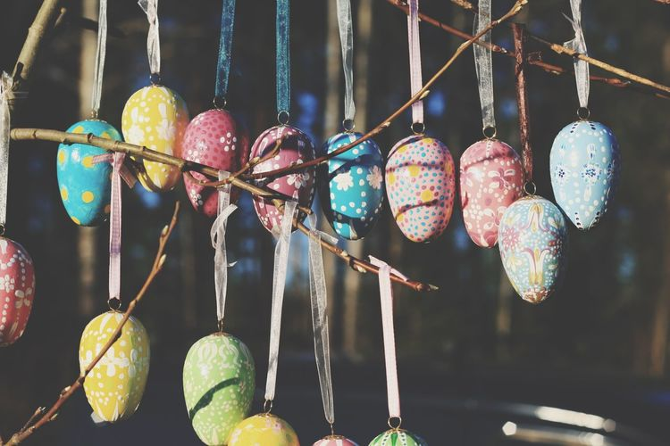 Close-Up Of Colorful Easter Eggs