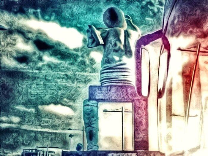 Bus Monument Digital Art City Mirror Paint Edit Hanging Out