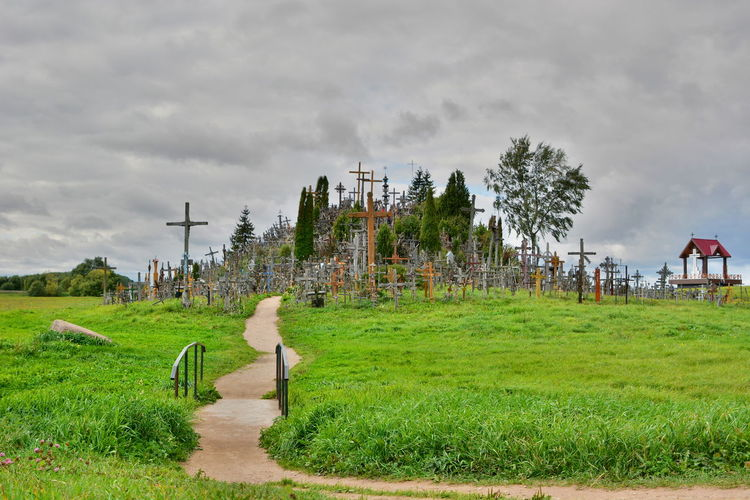 Hill of crosses Catholic Catholicism Christian Christianity Europe Faith Green Hill Hill Of Crosses Landscape Letuvia Lithuania Lithuania Travel Tourism Lithuania Travel Travel Photography Šiauliai