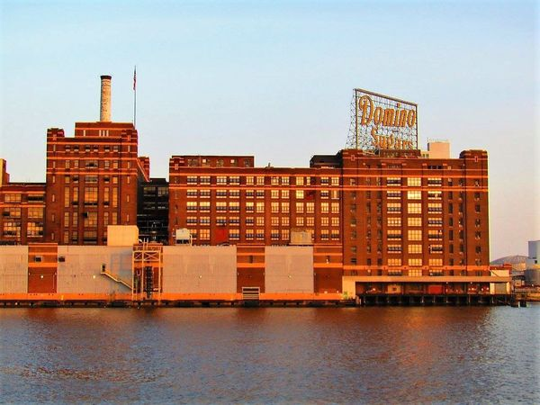 Baltimore Baltimore Harbor Baltimore Maryland Architecture Building Exterior Built Structure City Clear Sky Day Domino Sugar No People Outdoors Sky Water Waterfront This Week On Eyeem