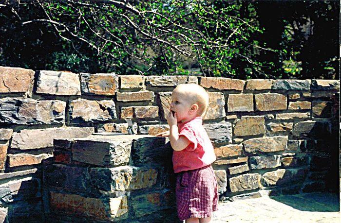 Childhood Outdoors Day Child Water Fountain. Thirsty  Adventure Duke Stone Duke Gardens