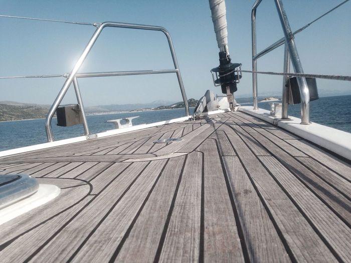 Ship bow in ocean