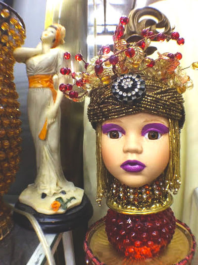 Close-up Day Fortune Teller Gold Colored Headshot Headwear Indoors  No People Store Display Fun